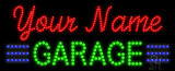Custom Green Garage Led Sign