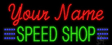 Custom Green Speed Shop Led Sign