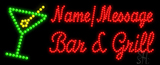 Custom Martini Glass Bar And Grill Led Sign