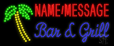 Custom Palm Tree Bar And Grill Led Sign