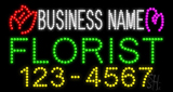 Custom Florist With Phone Number Led Sign