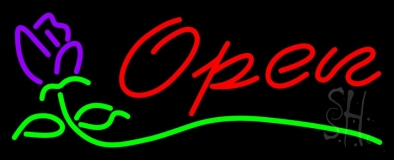 Open - rose Neon Sign