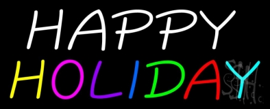 Happy Holiday Neon Sign