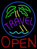 Travel Open LED Neon Sign