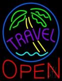 Travel Open Neon Sign