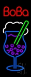Boba with Glass Neon Sign