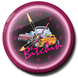 Bitchin 3 Cars 20 Inch Neon Clock