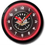 Corvette 56-57 20 Inch Neon Clock