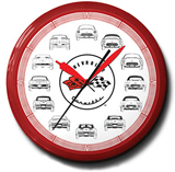 Corvette Cars 20 Inch Neon Clock