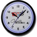 Corvette Sting Ray 20 Inch Neon Clock