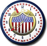 US Eagle Shield 20 Inch Neon Clock