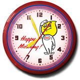 Happy Motoring 20 Inch Neon Clock