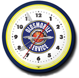 Olds Service 20 Inch Neon Clock