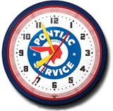 Pontiac Service 20 Inch Neon Clock