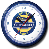 Chevy Bow Tie 20 Inch Neon Clock