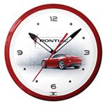 Pontiac Solstice Red 20 Inch Neon Clock