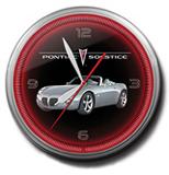 Pontiac Solstice Silver 20 Inch Neon Clock