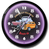Get Your Kicks On Route 66 20 Inch Neon Clock