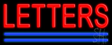 Custom Blue Double Lines LED Neon Sign