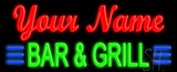 Custom Green Bar And Grill Neon Sign