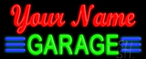 Custom Green Garage Neon Sign