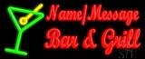 Custom Martini Glass Bar And Grill Neon Sign