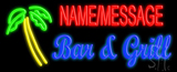 Custom Palm Tree Bar And Grill Neon Sign