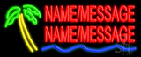 Custom Palm Tree Logo Neon Sign