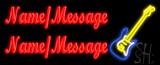 Custom Guitar LED Neon Sign