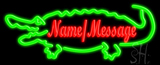 Custom Crocodile Neon Sign