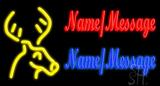 Custom Deer Logo Neon Sign