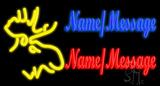 Custom Moose Head Neon Sign