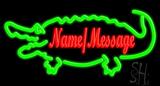 Custom Green Crocodile Neon Sign