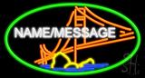 Custom Bridge Oval Neon Sign