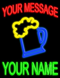 Custom Beer Mug Logo Neon Sign