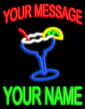 Custom Margarita Glass Logo Neon Sign