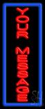 Custom Vertical Blue Border LED Neon Sign