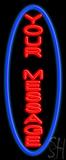 Custom Vertical Blue Oval LED Neon Sign