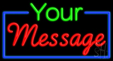 Custom In Green And Red Neon Sign