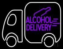 Alcohol Delivery Neon Sign