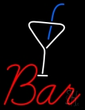 Bar With Martini Glass Neon Sign