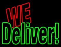 Block We Deliver Neon Sign