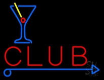 Club With Martini Glass Neon Sign