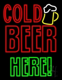 Cold Beer Here Neon Sign