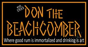 Don The Beachcomber Tiki Bar Neon Sign