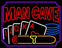 Mancave Beer With Cards LED Neon Sign