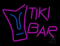 Pink Tiki Bar Neon Sign