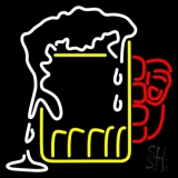 Overflowing Cold Beer Mug Neon Sign