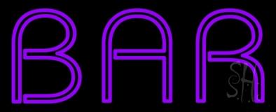 Purple Bar Neon Sign