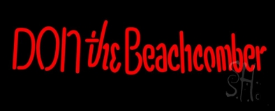 Red Donthe Beachcomber Neon Sign